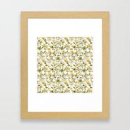 Vintage & Shabby Chic - Yellow Wildflowers Gerahmter Kunstdruck