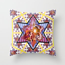 *Rissing Stars* Throw Pillow