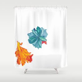 Siamese Fighter/Lover Fish Shower Curtain