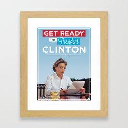 President Hillary Clinton Framed Art Print