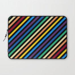 Rainbow Stripes with Black Laptop Sleeve