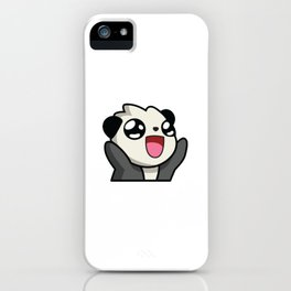 happy panda iPhone Case