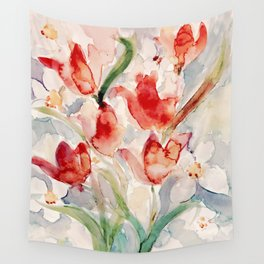 Tulips and Narcissi for Easter Wall Tapestry