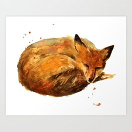 Snuggle Snout Art Print