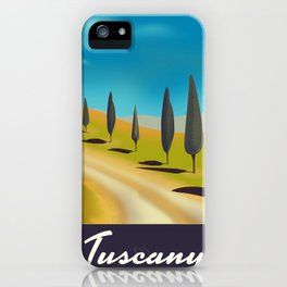 Tuscany Italy travel poster iPhone Case