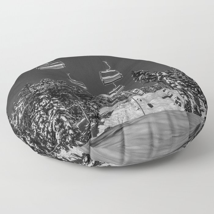 Chairlift to the Fuchsia Moon Floor Pillow