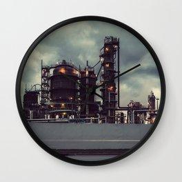 Ominous Refinery Wall Clock