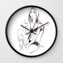 Sasha by the Window Wall Clock