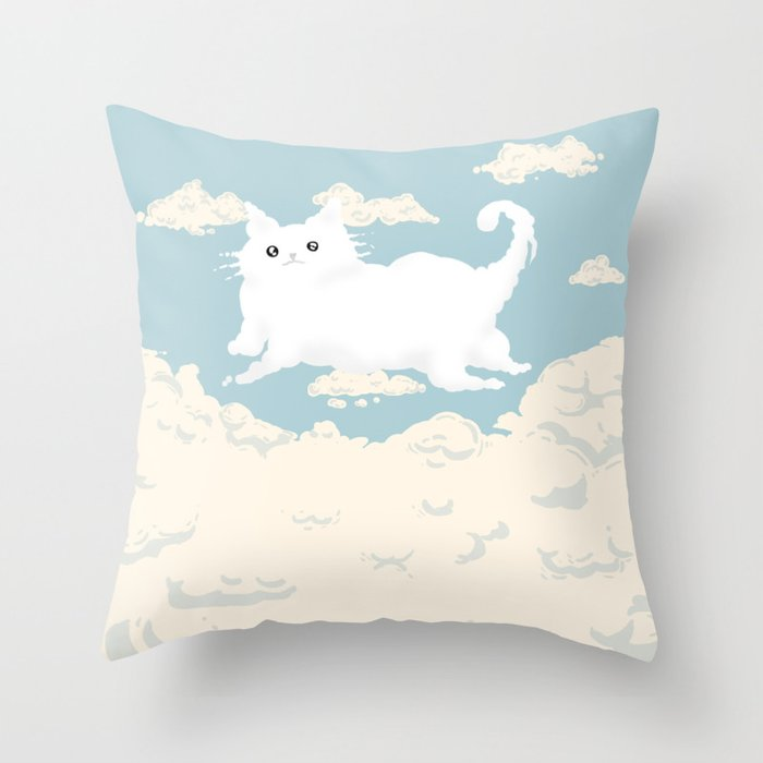 Cat Cloud Throw Pillow