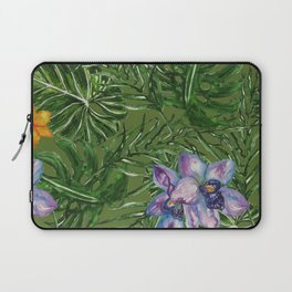 Tropical Pattern Big Leaves Laptop Sleeve