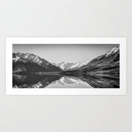 Lake Ohau Reflection Art Print