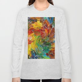 Upright Stained Twist Long Sleeve T-shirt