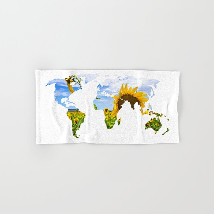 World of Sunflowers Hand & Bath Towel