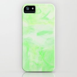 Neon Green Marble iPhone Case