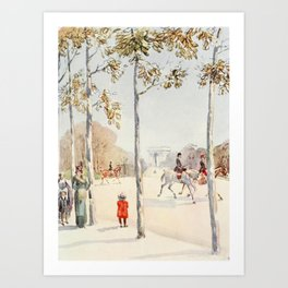 Morley, Harry (1881-1944) - The Charm of Paris 1913 - Avenue du Bois de Boulogne Art Print