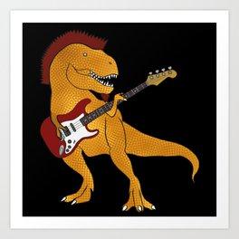 T-Rex Bass Art Print