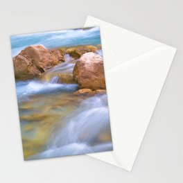 Stones and water, river detail. Stationery Cards