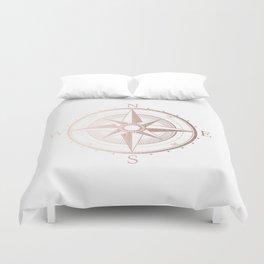 Rose Gold Compass Duvet Cover