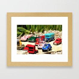 small cars Framed Art Print