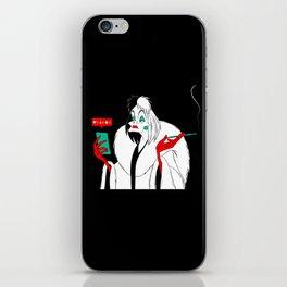 Cruella de Vil Illustration iPhone Skin