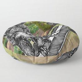 Simian Skateboard Selfie Floor Pillow