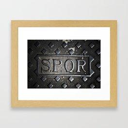 SPQR Rome, Italy Framed Art Print