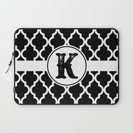 Black Monogram: Letter K Laptop Sleeve