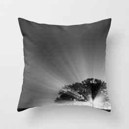 Something is Coming Throw Pillow