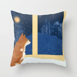 Volcano View Throw Pillow