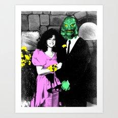 Spooky Prom 2 Art Print