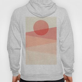 Abstraction_SUNSET_LINE_ART_Minimalism_001 Hoody