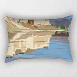 Vintage Poster - Upper Missori River Breaks National Monument, Montana (2015) Rectangular Pillow