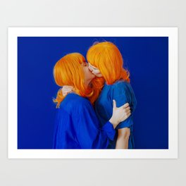kiss (on being single) - wide Art Print