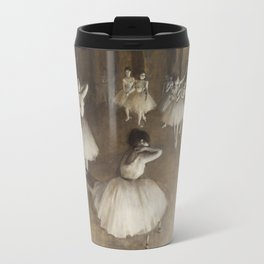 Edgar Degas, Ballet Rehearsal on Stage Travel Mug