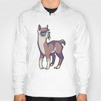 llama Hoodies featuring Llama by Suzanne Annaars
