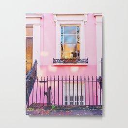Pink Window Notting Hill London England Metal Print