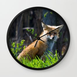 I Am the Fox. Who Are You? Wall Clock