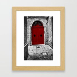 The Red Door | Mdina | Malta Framed Art Print