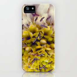 Flower Purple Yellow iPhone Case