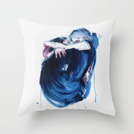 the noise of the sea Throw Pillow