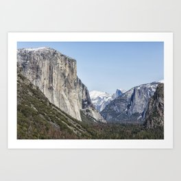 El Capitan, Half Dome and Sentinel Rock from Tunnel View Art Print
