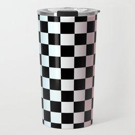 Red White Blue Gradient Checker Travel Mug