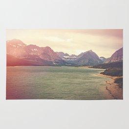 Retro Mountain Lake Rug