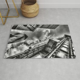 Lloyd's the Cheese Grater and Gherkin buildings London Rug