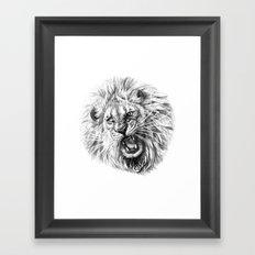 Lion roar G141 Framed Art Print
