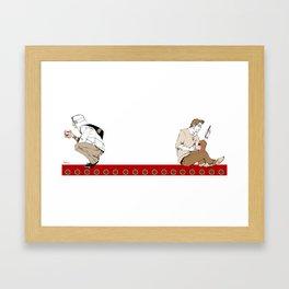 Assassiny Tea & Biscuits Framed Art Print