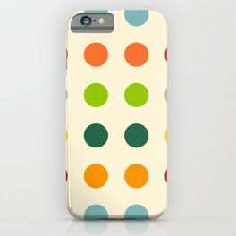 Habrok - Colorful Decorative Abstract Dots Pattern iPhone Case
