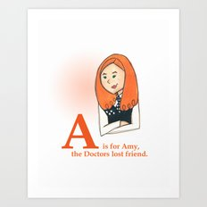 A is for Amy Art Print