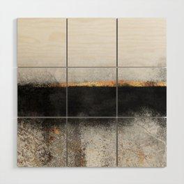 Soot And Gold Wood Wall Art