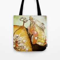 physics Tote Bags featuring Naughty Physics by Brian Coldrick